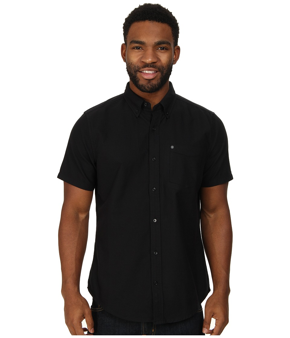 Hurley - Ace Oxford 2.0 S/S (Black/Black) Men's Short Sleeve Button Up