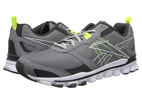 Reebok - Hexaffect Run (Foggy Grey/Gravel/White/Solar Yellow/Steel) Men