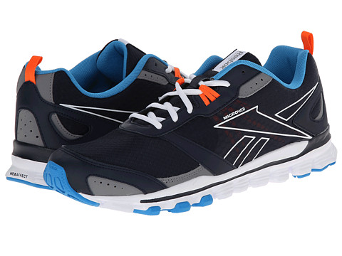 Reebok - Hexaffect Run (Faux Indigo/Energy Blue/Vivid Tangerine/White) Men's Cross Training Shoes