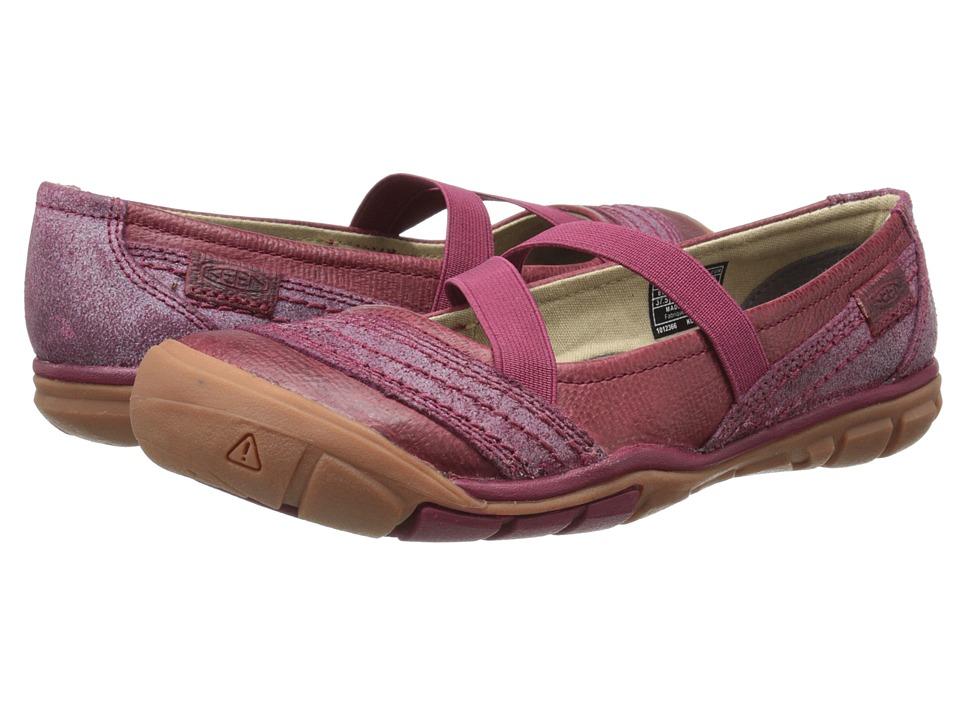 Keen - Rivington CNX Criss-Cross (Beet Red) Women's Flat Shoes