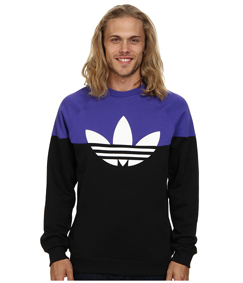 adidas Originals - Duo Trefoil Crew (Black/Semi Night Flash/White) Men's Sweater