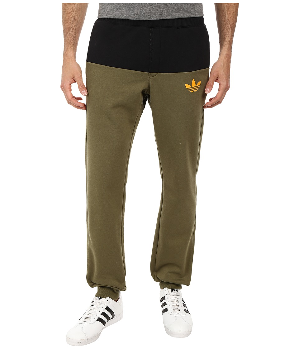 adidas Originals - Duo Cuffed Sweatpant (Olive Cargo/Black/Collegiate Gold) Men