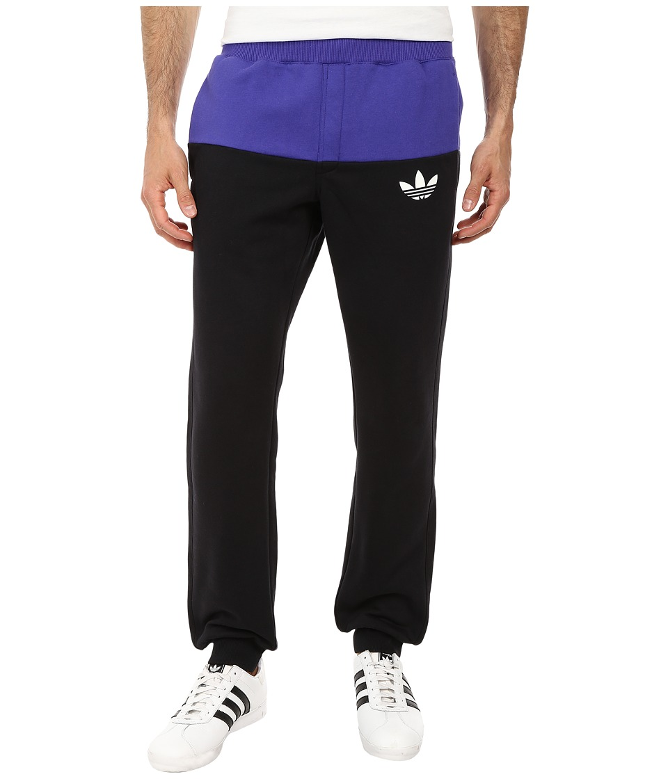 adidas Originals - Duo Cuffed Sweatpant (Black/Semi Night Flash/White) Men's Casual Pants