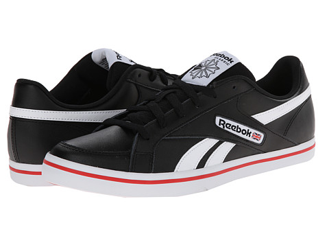 Reebok - LC Court Vulc Low (Leather - Black/White/Red Rush) Men's Shoes