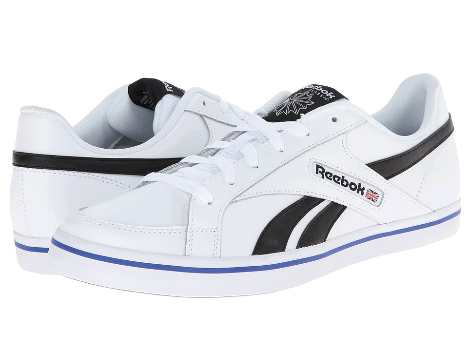 Reebok - LC Court Vulc Low (Leather - White/Black/Team Dark Royal) Men