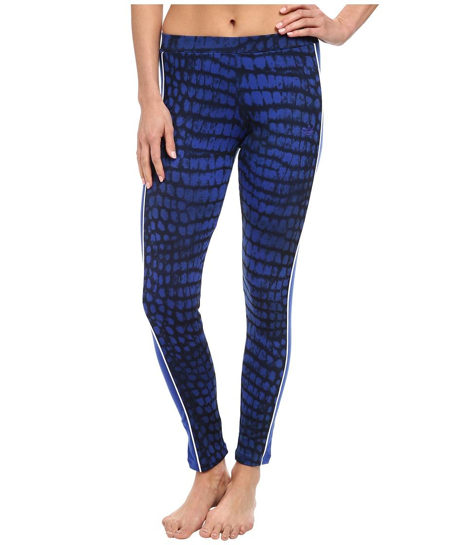 adidas Originals - City NY Legging (Bold Blue/Black/White) Women