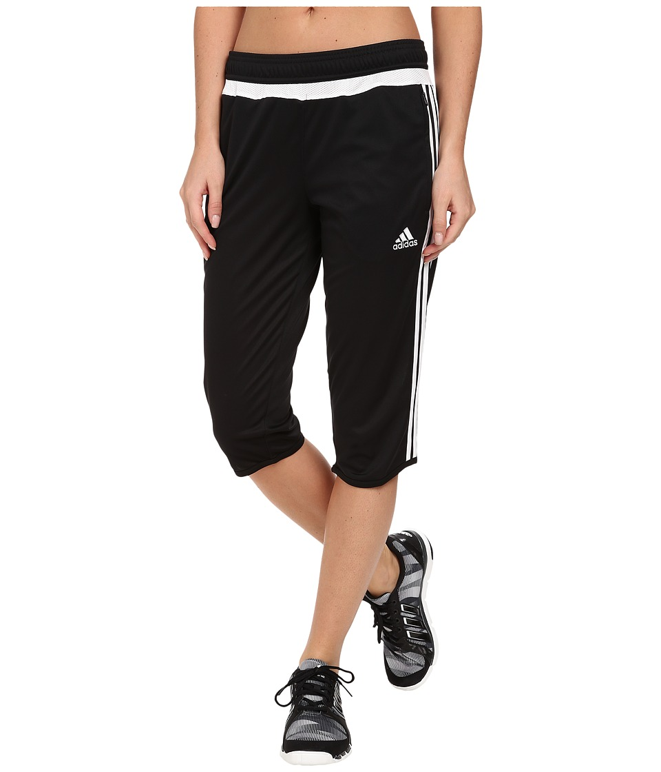 adidas - Tiro 15 Three-Quarter Pant (Black/White/Black) Women's Casual Pants
