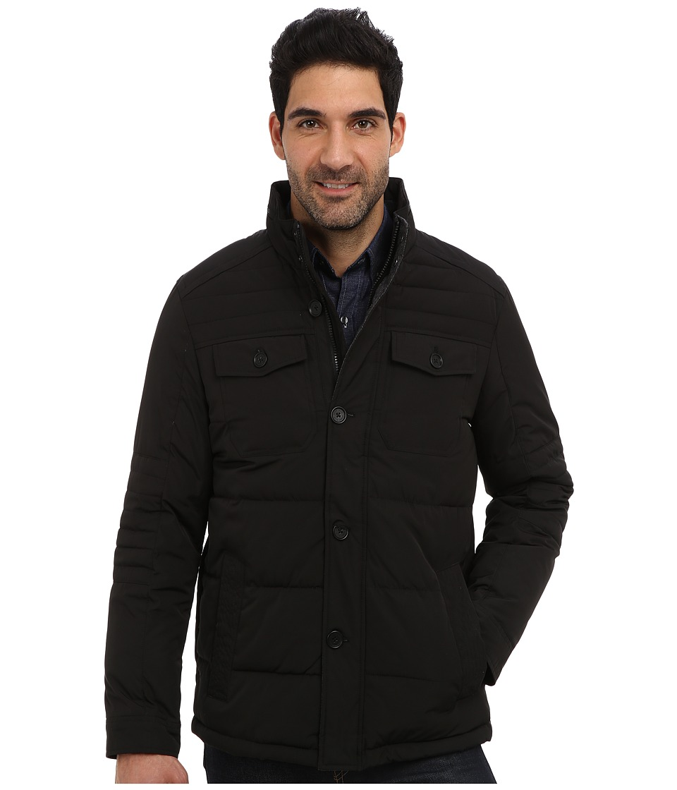 Perry Ellis - Quilted Four Pocket Jacket EP822679 (Black) Men's Coat