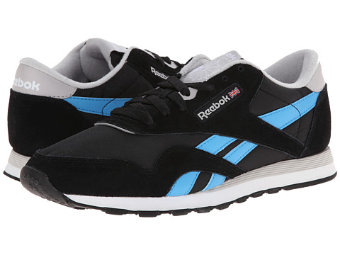 Reebok Lifestyle - Classic Nylon (Black/Steel/California Blue/White) Men's Classic Shoes
