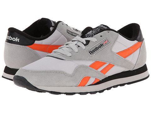 Reebok Lifestyle - Classic Nylon (MGH Solid Grey/Snow Grey/Vivid Tangerine/Black) Men