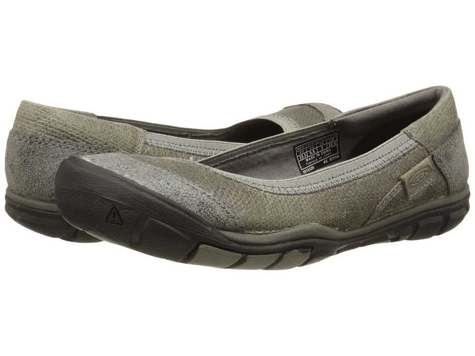 Keen - Rivington Ballerina CNX (Neutral Gray) Women's Slip on Shoes