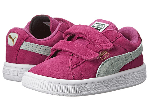 Puma Kids - Suede 2 Straps (Toddler/Little Kid/Big Kid) (Vivid Viola/Bay) Girls Shoes
