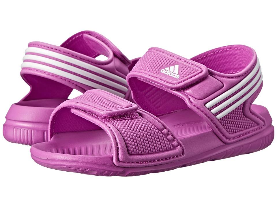 adidas Kids - Akwah 9 I (Infant/Toddler) (Flash Pink/White/White) Girls Shoes