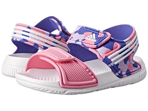adidas Kids - Akwah 9 I (Infant/Toddler) (Semi Night Flash/White/Semi Solar Pink) Girls Shoes