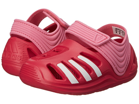 adidas Kids - Zsandal I (Infant/Toddler) (Semi Solar Pink/White/Vivid Berry) Girls Shoes