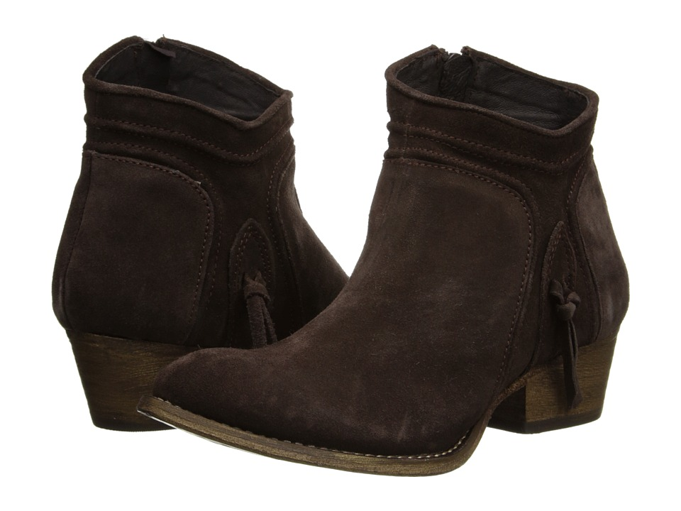 Rebels - Cheyene (Dark Brown Suede Leather) Women's Zip Boots