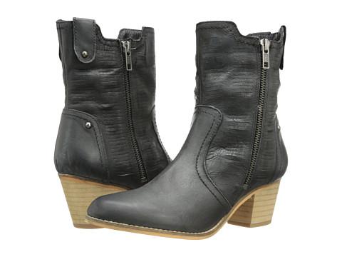 Rebels - Twist (Black Leather) Women's Zip Boots