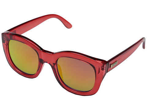 Le Specs - Runaways (Crystal Red/Red Revo Mirror) Fashion Sunglasses