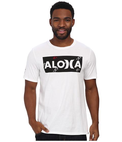 Hurley - Sig Zane Aloha Tee (White) Men's T Shirt