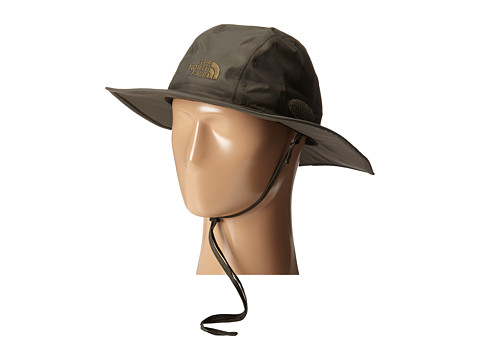 The North Face - HyVent Hiker Hat (Black Ink Green/Burnt Olive Green) Caps