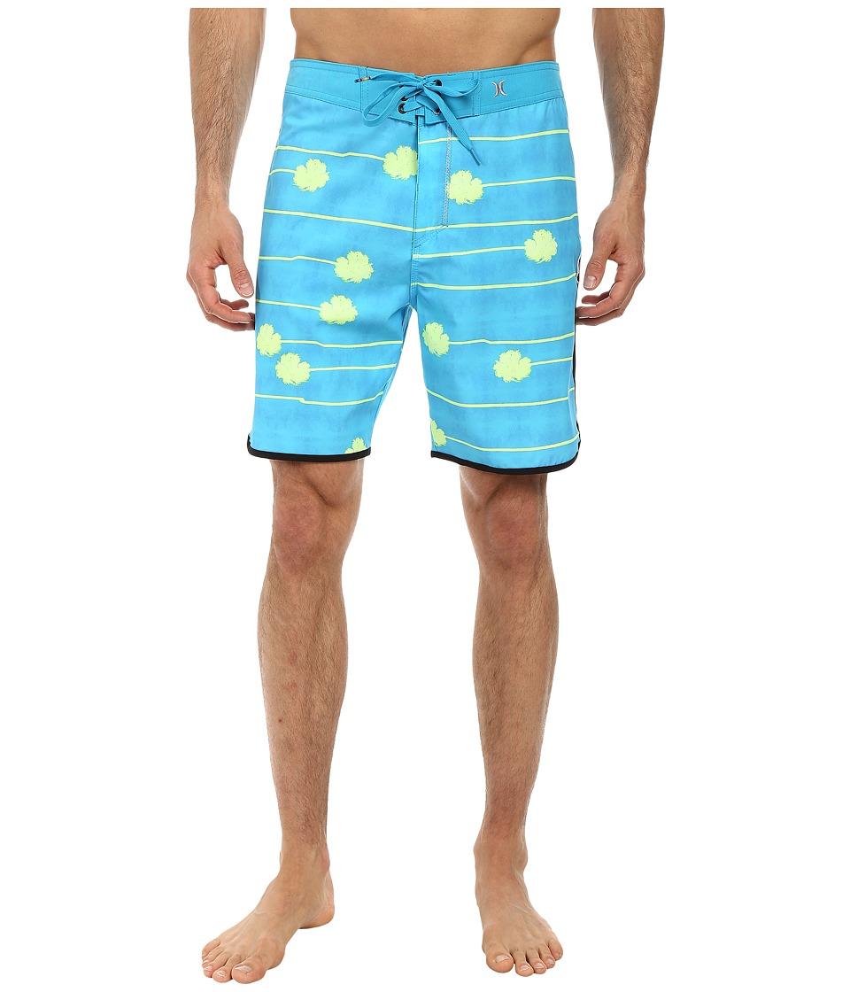 Hurley - Phantom Block Party Palmera Boardshort (Blue Lagoon) Men's Swimwear