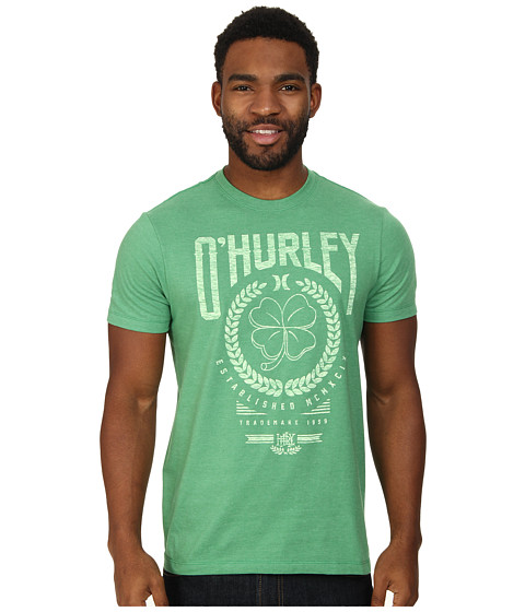 Hurley - Irish Luck Tee (Heather Kelly 1) Men's T Shirt