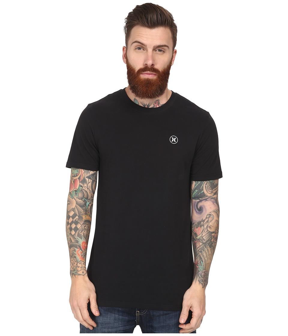Hurley - Staple Dri-Fit Tee (Black) Men's Short Sleeve Pullover