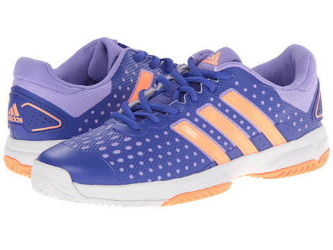 adidas Kids - Barricade Team 4 xJ (Little Kid/Big Kid) (Night Flash/Flash Orange/White) Girls Shoes