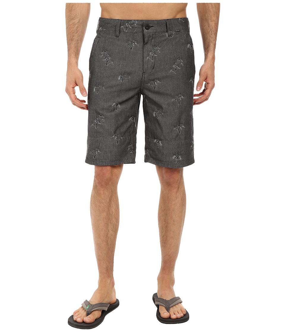 Hurley - Sig Zane Chambray Walkshort (Black) Men's Shorts