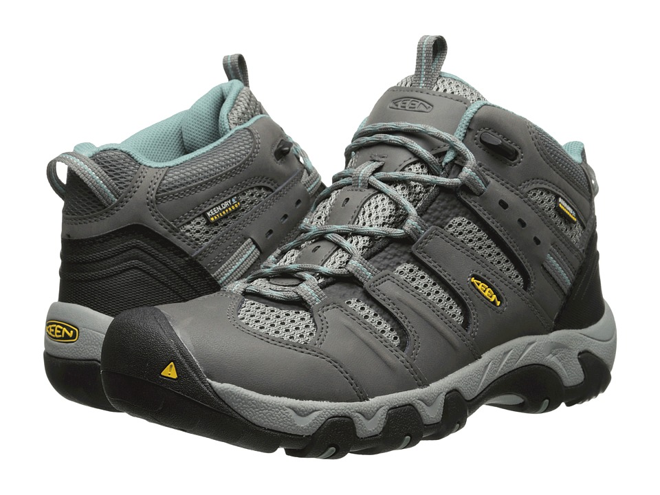 Keen - Koven Mid WP (Gargoyle/Mineral Blue) Women's Hiking Boots