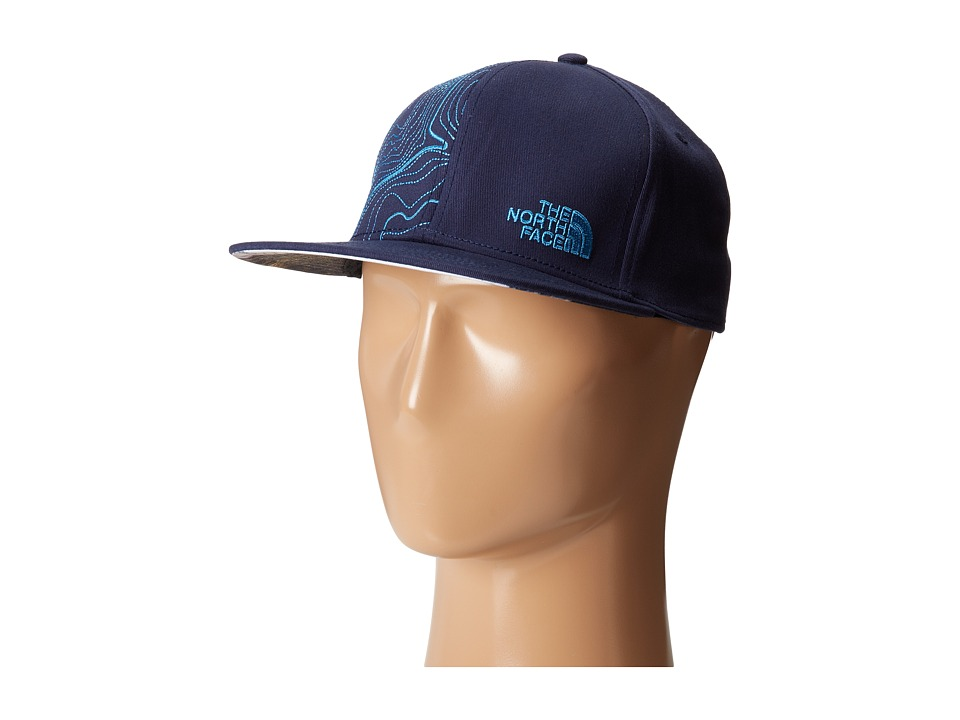 The North Face - Stitch Right Flat Brim Hats (Cosmic Blue/Heron Blue) Caps