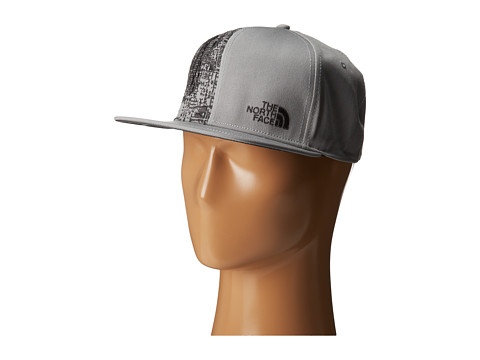 The North Face - Stitch Right Flat Brim Hats (Pache Grey/Asphalt Grey) Caps