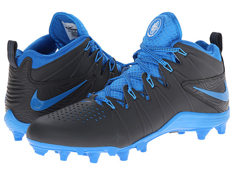 Nike - Huarache 4 Lax (Anthracite/Photo Blue) Men's Cleated Shoes