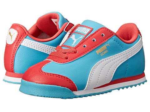 Puma Kids - Roma Basic (Toddler/Little Kid) (Geranium/Blue Atoll/White) Girls Shoes