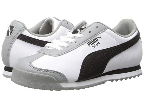 Puma Kids - Roma Basic (Toddler/Little Kid) (White/Black/Limestone Grey) Boys Shoes