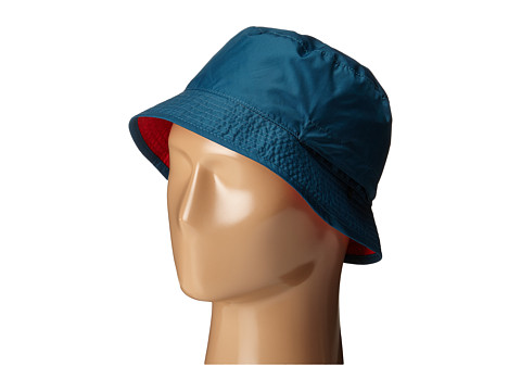The North Face - Sun Stash Hat (Prussian Blue/TNF Red) Traditional Hats