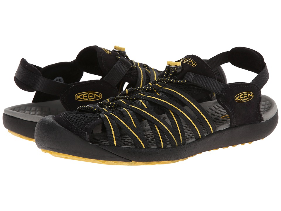 Keen - Kuta (Black/Ceylon Yellow) Men's Shoes