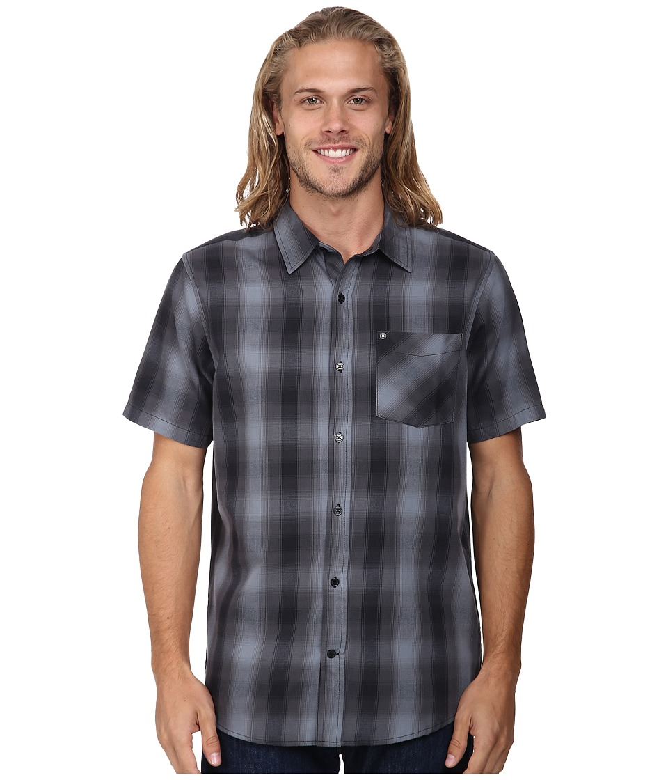 Hurley - Dri-Fit Jones S/S Woven (Black) Men's Short Sleeve Button Up