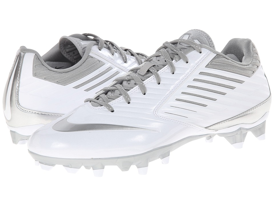 Nike - Vapor Speed Lax (White/Metallic Silver) Men's Cleated Shoes