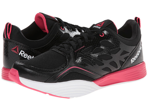 Reebok - Cardio Inspire Low (Black/Blazing Pink/White) Women's Shoes