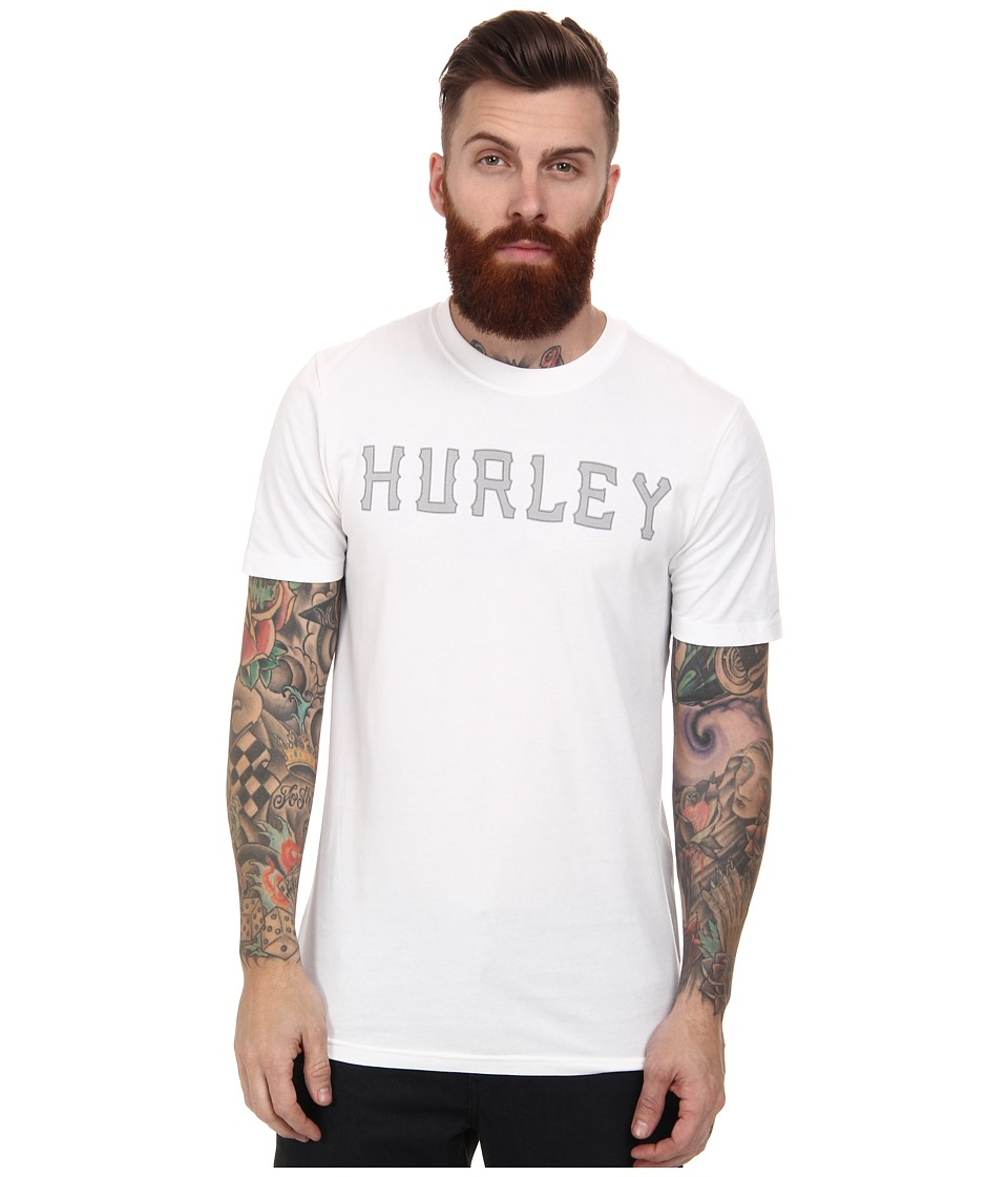 Hurley - Stitched Dri-FIT Tee (White) Men's Short Sleeve Pullover