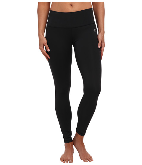 adidas - Performer Mid-Rise Long Tight (Black/Matte Silver 2) Women