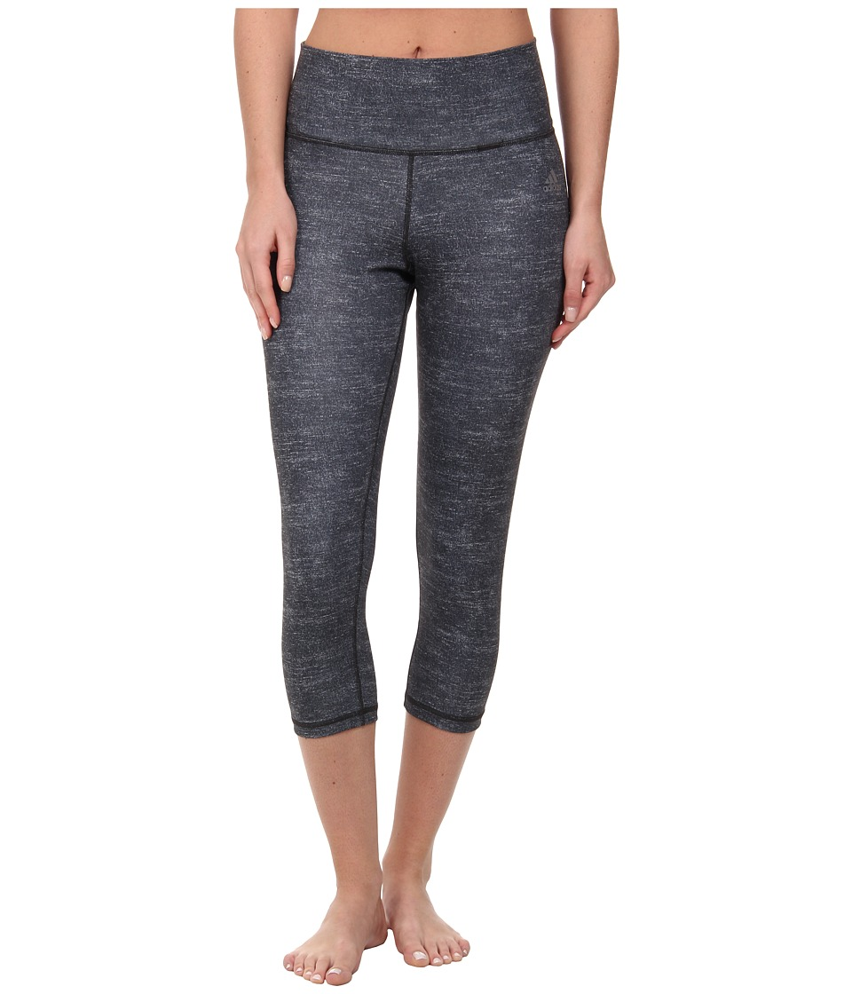 adidas Performer High-Rise Three-Quarter Tight Static Print (Night Flash Print/Matte Silver) Women