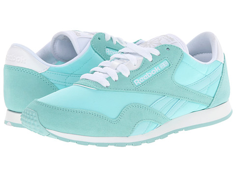 Reebok Lifestyle - Classic Nylon Slim Pigment (Crystal Blue/White) Women's Shoes