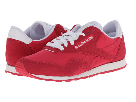 Reebok Lifestyle - Classic Nylon Slim Pigment (Blazing Pink/White) Women's Shoes