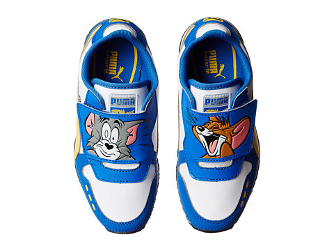 Puma Kids - Cabana Racer Tom Jerry (Toddler/Little Kid/Big Kid) (Strong Blue/White/Snapdragon) Boys Shoes
