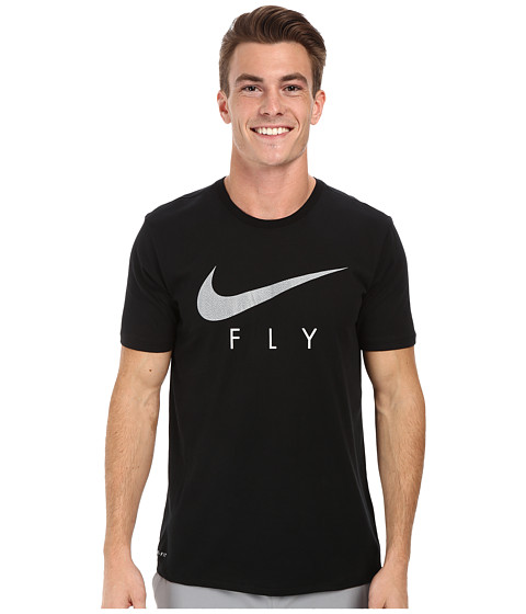 Nike - Fly Graphic Tee (Black/Cool Grey) Men