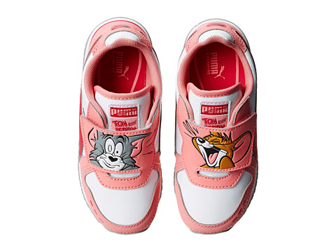 Puma Kids - Cabana Racer Tom Jerry (Toddler/Little Kid/Big Kid) (Salmon Rose/White/Virtual Pink) Girls Shoes