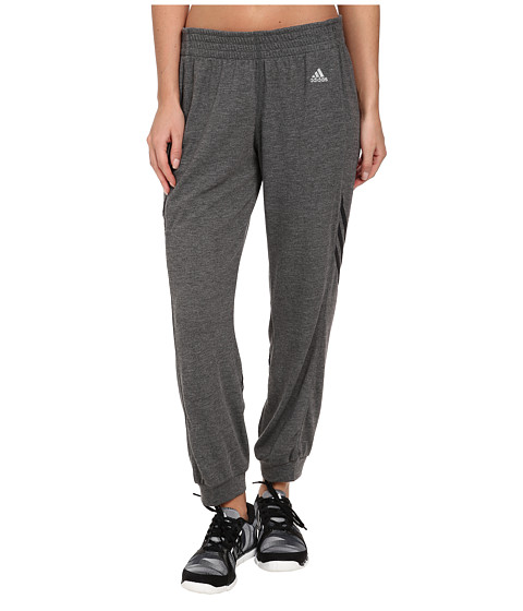 adidas - 2Love 7/8 Pant (Dark Grey Heather/Dark Grey/Matte Silver) Women's Casual Pants