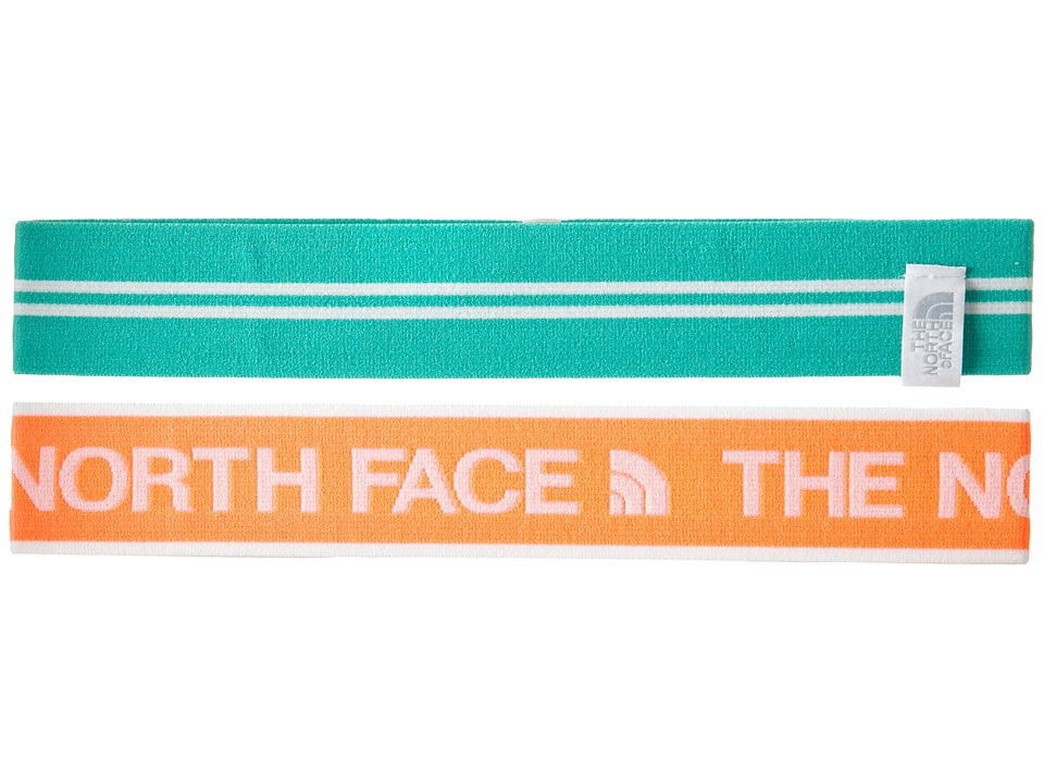 The North Face - Sporty Shorty Headbands (Fiery Coral/Billard Green) Headband